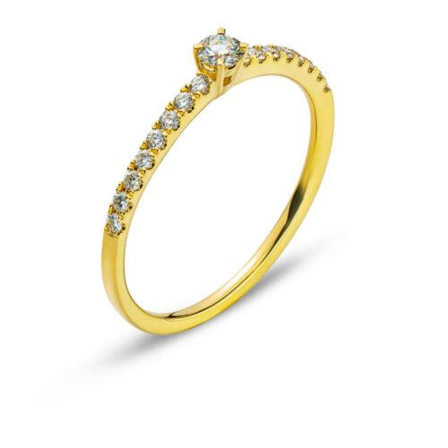 Ring Gelbgold 750/18 Karat Brillanten 0.25ct